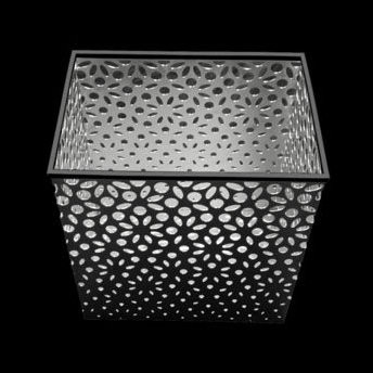"""Flower"" stainless steel trash bin."