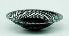 """Black painted steel.10-1/2"""" diameter x 2-1/2"""" high$150.00"""