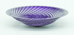 """Metallic Purple painted steel.10-1/2"""" diameter x 2-1/2"""" high$150.00"""